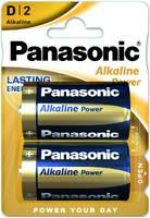 Батарейки Panasonic щелочные тип D Alkiline power в блистере 2шт (LR20REB/2BP)