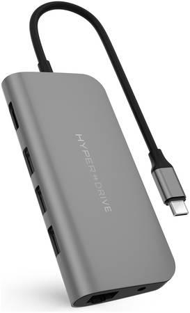 USB-концентратор HyperDrive Power 9-in-1 USB-C Hub HD30F-GREY