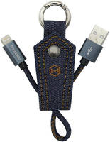Кабель Mcdodo USB - Lightning c брелоком 0,15 метра, деним, синий