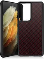 Чехол-накладка ITSKINS HYBRID CARBON для Samsung Galaxy S21 Ultra
