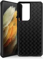 Чехол-накладка ITSKINS HYBRID CARBON для Samsung Galaxy S21 Ultra, (блестящий)