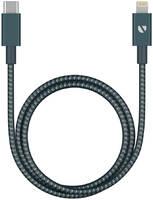 Дата-кабель Deppa USB-C - Lightning, MFI, алюминий/нейлон, 3A, 1.2м, графит 72320
