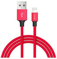 Кабель Devia Pheez 1m Lightning - Red, Красный
