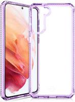 Чехол антибактериальный ITSKINS HYBRID CLEAR для Samsung Galaxy S21 сиреневый