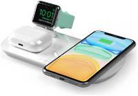 Зарядная станция Deppa 3 в 1: iPhone Apple Watch Airpods беспроводная 175 Вт белая