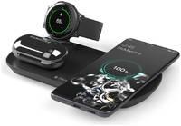 Зарядная станция Deppa 3 в 1: Qi Galaxy Watch Galaxy Buds беспроводная 175 Вт черная