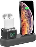 Док станция Deppa 3-в-1 ( iPhone/AirPods/Apple Watch 1/2/3/4) силикон 47105