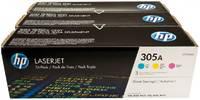 HP Картридж CF370AM набор картриджей (CMY) 305A для LaserJet M351/M451/M375/M475