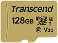 Карта памяти Transcend 128GB UHS-I U3 microSD with Adapter MLC