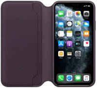 Чехол Apple iPhone 11 Pro Max Leather Folio - Aubergine (MX092ZM/A)