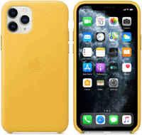 Чехол Apple iPhone 11 Pro Leather Case - Meyer Lemon (MWYA2ZM/A)