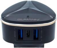 Сетевое зарядное устройство Qumann QTC-03 Type-C+2USB (AUTO-ID 3,1A;15,5W) 50030