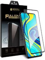 Защитное стекло MOCOLL полноразмерное 2.5D для Xiaomi Redmi Note 9/Redmi 10X Черное (Серия Storm)