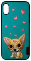 Comma Накладка Сomma Dog Embroidery Case для iPhone X/XS