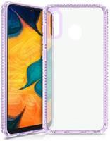 Чехол антибактериальный ITSKINS HYBRID CLEAR для Samsung Galaxy A20/A30 сиреневый