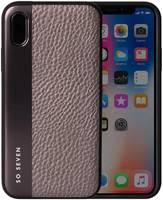 Чехол-накладка So Seven для Apple iPhone X/XS THE METAL EFFECT тёмное