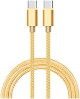 Дата-кабель АТОМ USB Type-C 3.1 1,8 м, золотой