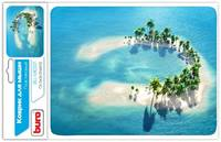 Коврик Buro для мыши BU-M10017 рисунок/остров