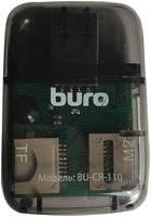 Карт-ридер USB2.0 Buro BU-CR-110 черный