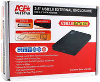 "Внешний корпус для HDD AgeStar 3UB2P2 SATA III пластик 2.5"""