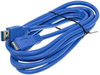 Кабель Ningbo micro USB 3.0 B (m) USB A(m) 3м синий блистер
