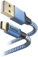 Кабель Hama 00178295 USB Type-C (m) USB 2.0 (m) 1.5м синий