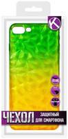 Чехол Krutoff для APPLE iPhone 7 Plus / 8 Plus Crystal Silicone -Green 12194