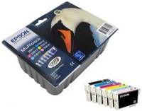 Картридж Epson T0817 (C13T11174A10) для Epson R270/290/RX590, набор из 6 картриджей