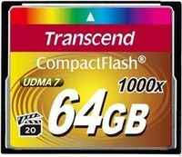 Карта памяти CompactFlash Card 64GB 1000X Transcend
