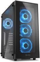 Компьютерный корпус Sharkoon TG5 LED