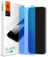 Защитное стекло с фильтром синего света Spigen GLAS.tR SLIM HD для iPhone 12 mini (2.5D, 9H; олеофобное покрытие)
