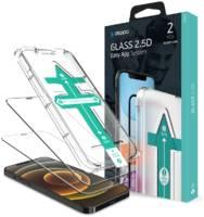 Защитное стекло с установочной формой Deppa для iPhone 12 mini (2.5D, 0,3 мм, 9H; олеофобное покрытие; комплект — 2 шт.)