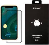 Защитное стекло Big Geek для iPhone XR и 11 (2.5D, 0,33 мм, 9H; олеофобное покрытие)