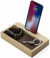 Деревянная док-станция с органайзером Oakywood для iPhone
