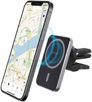 Автомобильный MagSafe-держатель с беспроводной зарядкой на вентиляционную решётку Deppa Mage Safe Qi