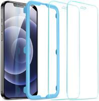 Защитное стекло с установочной рамкой ESR Screen Shield для iPhone 12 Pro Max (2D; комплект — 2 шт.) Цвет: Прозрачный   Clear