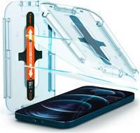Защитное стекло с установочной формой Spigen GLAS.tR SLIM EZ FIT для iPhone 12 Pro Max (2.5D, 9H; олеофобное покрытие; комплект — 2 шт.)