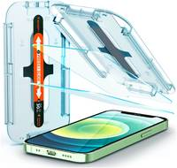 Защитное стекло с установочной формой Spigen GLAS.tR SLIM EZ FIT для iPhone 12 mini (2.5D, 9H; олеофобное покрытие; комплект — 2 шт.)