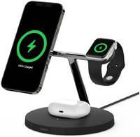 Подставка с беспроводной зарядкой и поддержкой MagSafe Belkin BOOST?CHARGE PRO для iPhone, Apple Watch и AirPods Pro