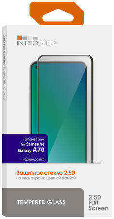 Защитное стекло для Samsung InterStep FSC д/Samsung Galaxy A70, Black Fr