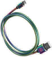 Кабель USB Type-C Qumo 2.0 Rainbow 1.2м