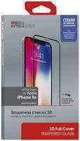 Защитное стекло InterStep 3D Full Cover iPhone XR черная рамка с аппл