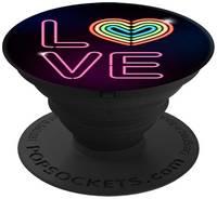 Кольцо-держатель для телефона Popsockets Neon Love (101552)