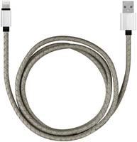 Кабель Rombica USB-Lightning MFI, 1 м, серый (CB-IL02)