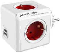 Переходник Allocacoc PowerCube Original USB красный (1202RD)