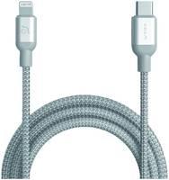 Кабель Adam Elements PeAk II USB-C-Lightning, 1.2 м, серебристый