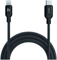 Кабель Adam Elements PeAk II USB-C-Lightning, 1.2 м, черный