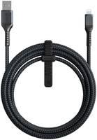 Кабель Nomad USB - Lightning NM01A12000, 3 м, черный