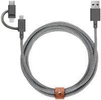 Кабель Native Union BELT-KV-ULC-ZEB Belt Cable Universal, 2 м, зебра