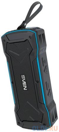 Колонки Sven PS-220, -синий,2.0, 2x5 Вт (RMS), Wateproof (IPx5), Bluetooth, USB, microSD, FM-тюнер, встроенный аккумулятор